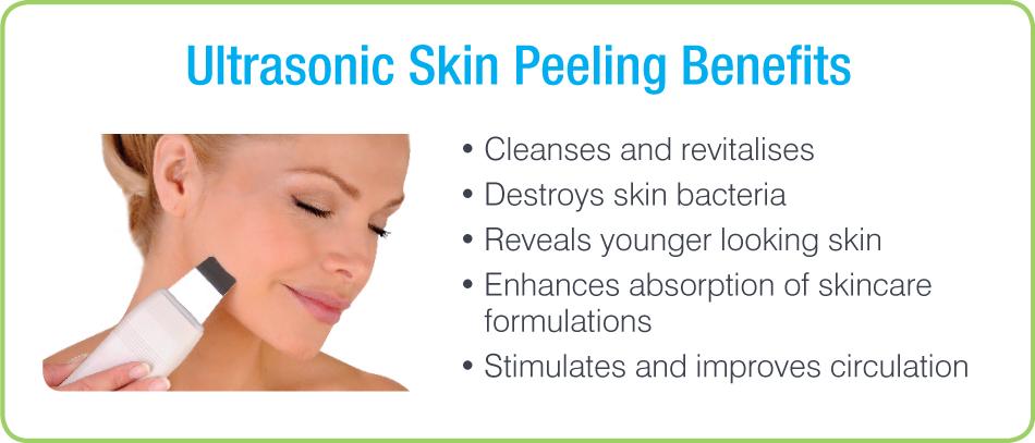 CACI Ultrasonic Peeling Benefits